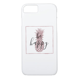 Coque iPhone 8/7 Ananas rose d'or