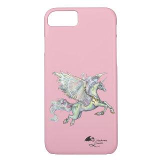 Coque iPhone 8/7 Ange Pegasus à ailes par licorne noire