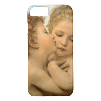 Coque iPhone 8/7 Anges victoriens vintages, premier baiser par