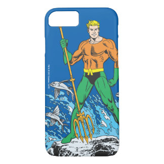 Coque iPhone 8/7 Aquaman se tient avec la fourche