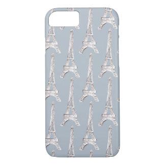 Coque iPhone 8/7 Aquarelle de motif de Français de Paris de Tour