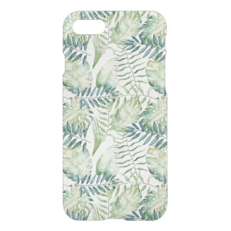 Coque iPhone 8/7 Aquarelle tropicale verte de feuille