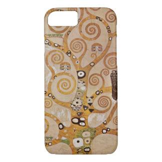 Coque iPhone 8/7 Arbre de la vie par Klimt, symbole stylisé de