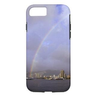 Coque iPhone 8/7 Arc-en-ciel au-dessus de Honolulu, Hawaï,