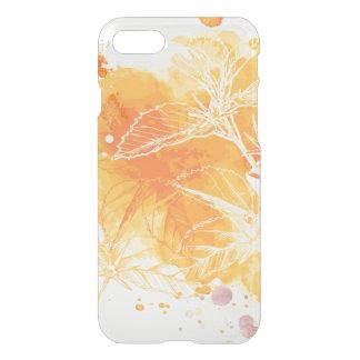 Coque iPhone 8/7 Arrière - plan d'aquarelle de vecteur et fleurs
