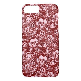 Coque iPhone 8/7 arrière - plan de crâne d'emo