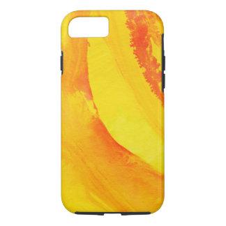 Coque iPhone 8/7 arrière - plan jaune. aquarelle sur le papier
