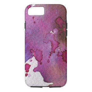 Coque iPhone 8/7 Arrière - plan pourpre d'aquarelle
