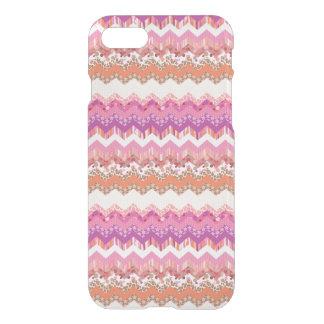Coque iPhone 8/7 Arrière - plan rose de zigzag