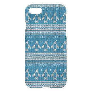 Coque iPhone 8/7 Arrière - plan tricoté par bleu