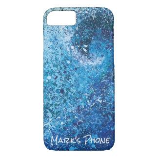 Coque iPhone 8/7 Art abstrait de vague côtière de plage