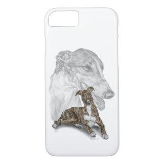 Coque iPhone 8/7 Art Brindle de chien de lévrier