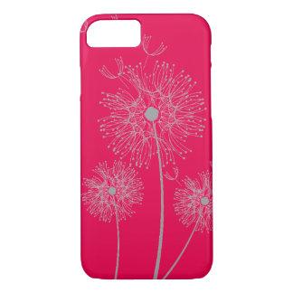 Coque iPhone 8/7 Art moderne pur de fleur de roses indien de