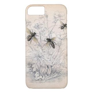 Coque iPhone 8/7 Art vintage d'abeille de miel