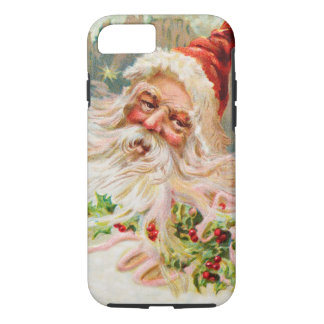 Coque iPhone 8/7 Art vintage du père noël de Noël