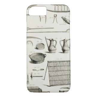 Coque iPhone 8/7 Assortiment des outils de jardinage, du 'Encyclope