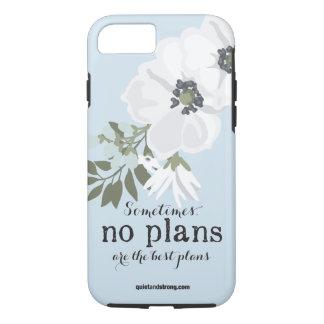 Coque iPhone 8/7 Aucuns plans - cas introverti floral de