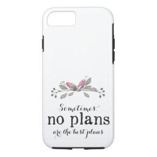 Coque iPhone 8/7 Aucuns plans floraux - caisse introvertie légère