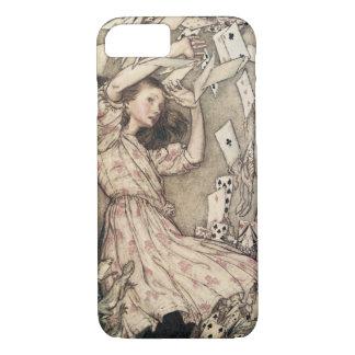 Coque iPhone 8/7 Aventures vintages d'Alices au pays des merveilles