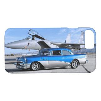 Coque iPhone 8/7 Avion de chasse 1955 classique spécial de voiture
