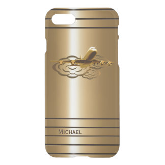 Coque iPhone 8/7 Avions d'or d'avion de ligne de jet