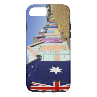 Coque iPhone 8/7 Baigner des boîtes, plage moyenne de Brighton,
