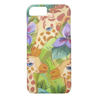 Coque iPhone 8/7 Baisers, mère et bébés de girafe