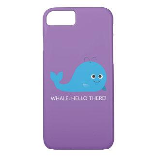 Coque iPhone 8/7 Baleine, bonjour là ! Cas de téléphone