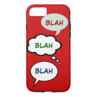 Coque iPhone 8/7 ballons de la parole de bande dessinée avec BLAH