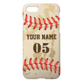 Coque iPhone 8/7 Base-ball vintage frais clair