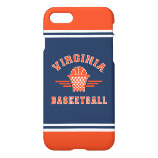 Coque iPhone 8/7 Basket-ball du logo | de cavaliers de la Virginie