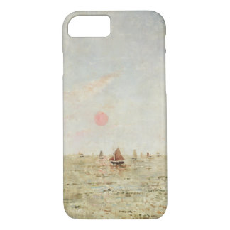 Coque iPhone 8/7 Bateaux au lever de soleil (huile sur le panneau)