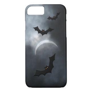 Coque iPhone 8/7 Battes éffrayantes de Halloween dans l'éclipse