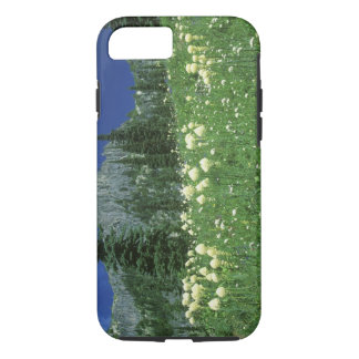 Coque iPhone 8/7 Beargrass au lac Eunice, le mont Rainier NP, WA,