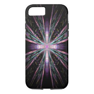 Coque iPhone 8/7 Beau cas de l'iPhone 7 de croix de fractale