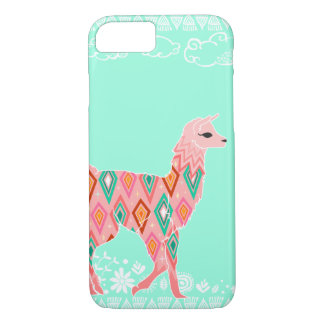 Coque iPhone 8/7 Beau lama - rose