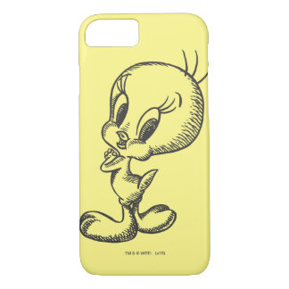 Coque iPhone 8/7 Beau noir/blanc de Tweety