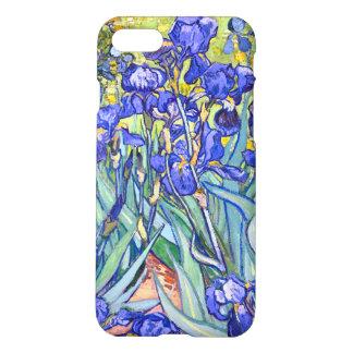 Coque iPhone 8/7 Beaux-arts vintages floraux d'iris de Vincent van