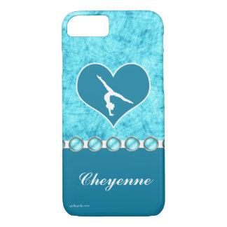 Coque iPhone 8/7 Belle gymnastique personnalisée de turquoise