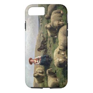 Coque iPhone 8/7 Bergère avec des moutons dans un paysage