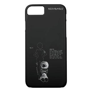 Coque iPhone 8/7 Blanc introverti de cas d'art sur l'obscurité -