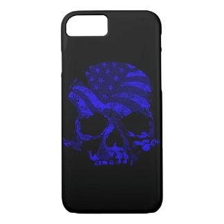 Coque iPhone 8/7 Bleu américain de crâne