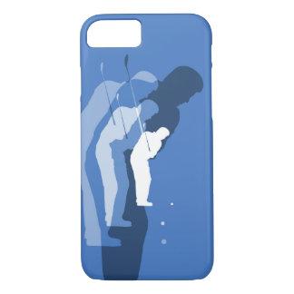 Coque iPhone 8/7 Bleu de cas de téléphone d'abrégé sur oscillation