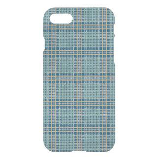 Coque iPhone 8/7 Bleu de plaid et jaune turquoises