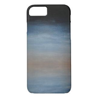 Coque iPhone 8/7 Bleu-foncé dans le cas de téléphone de Brown Ombre