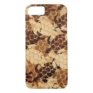 Coque iPhone 8/7 Bois de Koa de Faux de Hawaïen de tortue de mer de