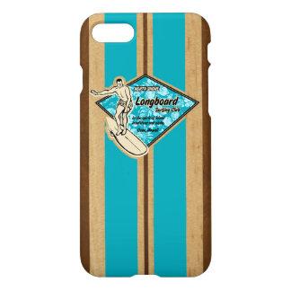 Coque iPhone 8/7 Bois hawaïen de Faux de planche de surf de Waimea