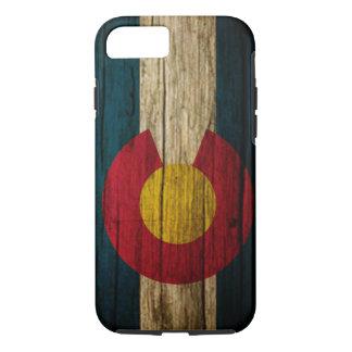 Coque iPhone 8/7 Bois rustique de drapeau du Colorado