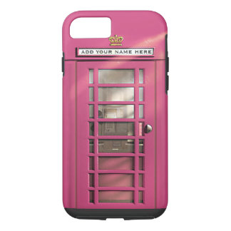 Coque iPhone 8/7 Boîte rose Girly drôle de téléphone des Anglais