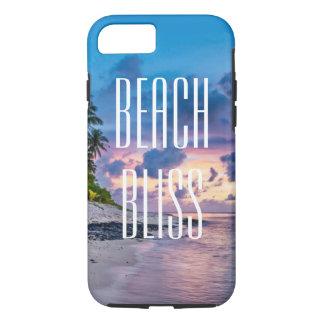 Coque iPhone 8/7 Bonheur de plage. Belle île tropicale